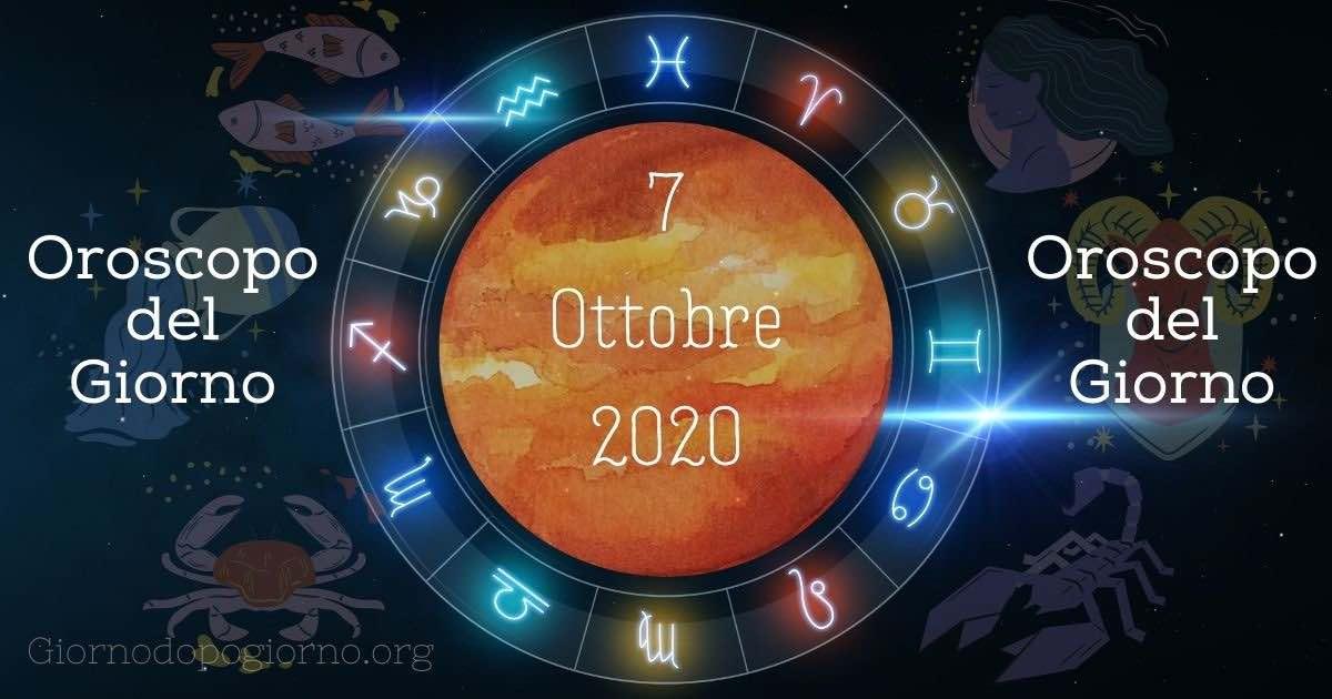 oroscopo del 7 ottobre 2020